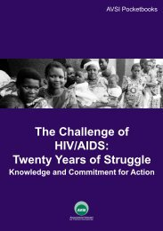 The Challenge of HIV/AIDS: Twenty Years of Struggle - AVSI-USA
