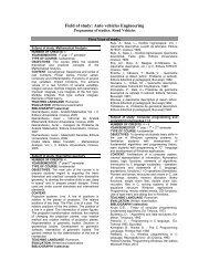 Road Vehicles - Facultatea de Mecanica Craiova - Universitatea din ...