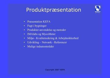 Produktpræsentation - bei KEFA International Handels GmbH
