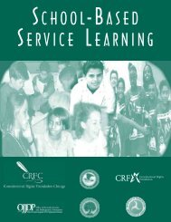 school-based service learning - National Service Inclusion Project