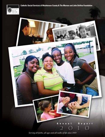 2010 Annual Report - Catholic Social Services Washtenaw County