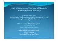 Role of Ministry of Energy and Water in National IWRM ... - INBO