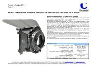 Product catalogue 2012 Page 12 MB 415 - Wide ... - Video Cine Import