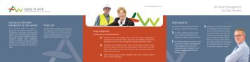 HR Health Management for Older Workers - Promocja zdrowia w ...