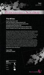 Winemaster's Selection December 2012 - Red - The Wine Society