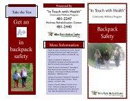 Backpack Safety - Alice Hyde Medical Center