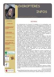 chiropteres infos - Plan National d'Actions en faveur des Chiroptères