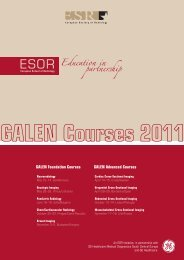 GALEN Foundation Courses GALEN Advanced Courses - myESR.org