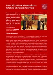 Katari a ich učenie v Languedocu – Katolícke a Katarské ... - Dhaxem