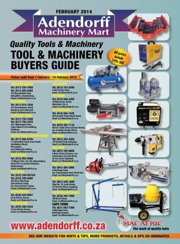 Quality Tools & Machinery - Adendorff Machinery Mart