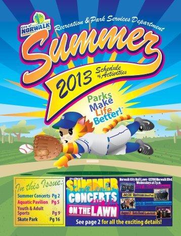 2013 Summer Recreation Schedule - City of Norwalk
