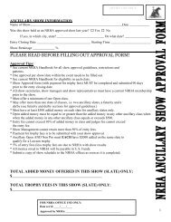 please read before filling out approval form! - NRHA.com