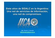 Siete años de SIDALC en la Argentina - Instituto Interamericano de ...