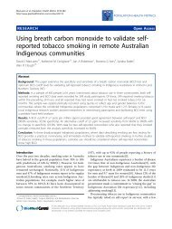 Using breath carbon monoxide to validate self-reported tobacco ...