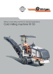 Cold milling machine W 50 - Wirtgen GmbH