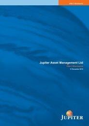 Pillar 3 - Jupiter Asset Management