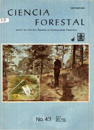Vol. 8 Num. 43 - Instituto Nacional de Investigaciones Forestales ...