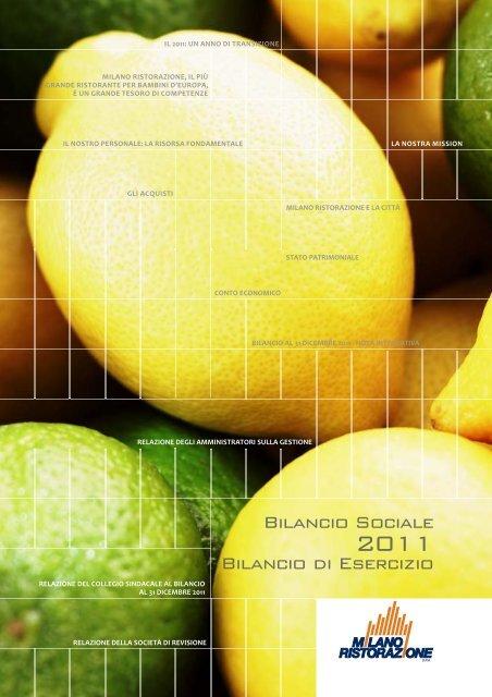 Scarica il Bilancio Sociale e d'Esercizio 2011 - Milano Ristorazione