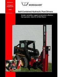 Self-Contained Hydraulic Post Drivers WORKSAVER - Wildcat Tool ...