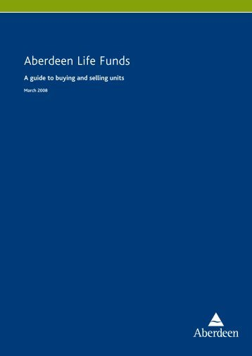 Aberdeen Life Funds - Aberdeen Asset Management