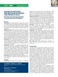 Dolore DA PAtologie Peri-ArticolAri in PAzienti con Protesi D'AncA