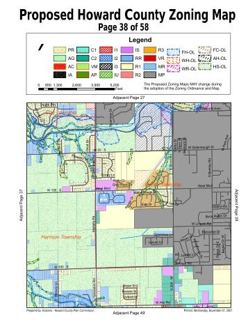 Proposed Howard County Zoning Map - Howard County, Indiana