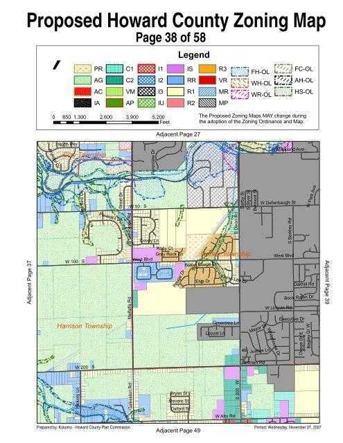 Howard County Indiana Map.Proposed Howard County Zoning Map Howard County Indiana
