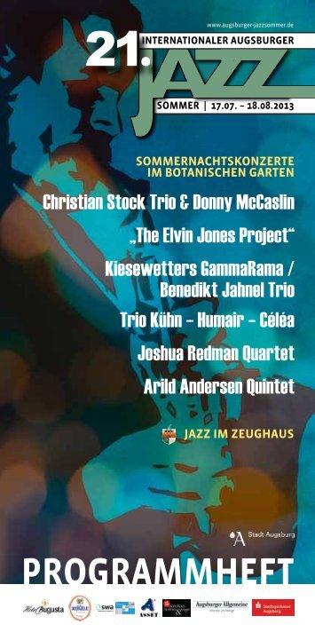 Das komplette Programmheft - Augsburger Jazzsommer