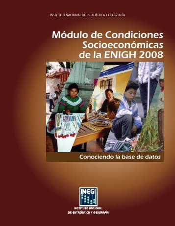 Módulo de Condiciones Socioeconómicas de la ENIGH 2008 ... - Inegi