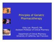 Principles of Geriatric Pharmacotherapy - UCSF Fresno - University ...