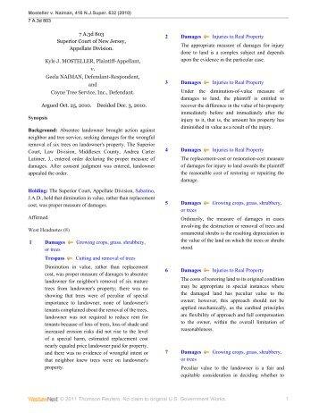 Mosteller v. Naiman - Appellate Law NJ Blog