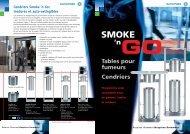 Tables pour fumeurs Cendriers SMOKE 'n