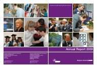 Annual Report 2009 - Faculty of Health, Social Care and Education ...