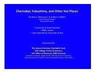 Chernobyl, Fukushima, and Other Hot Places - Environmental ...
