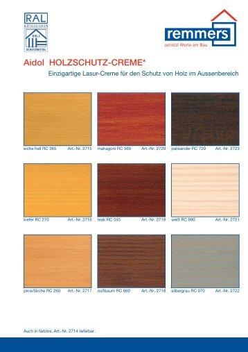 Aidol HOLZSCHUTZ-CREME - Remmers