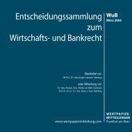 Titel WuB 03.qxd - WM Wirtschafts- und Bankrecht