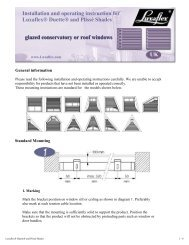 Installation and operating instruction - Merit Blinds