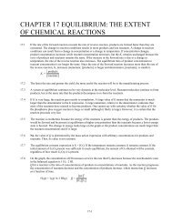 chapter 17 equilibrium: the extent of chemical reactions - SchoolNotes