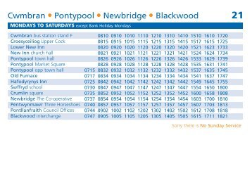Cwmbran Pontypool Newbridge Blackwood - Stagecoach