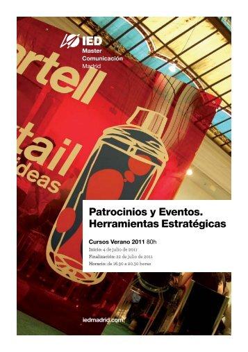 Patrocinios y Eventos. Herramientas Estratégicas - IED Madrid