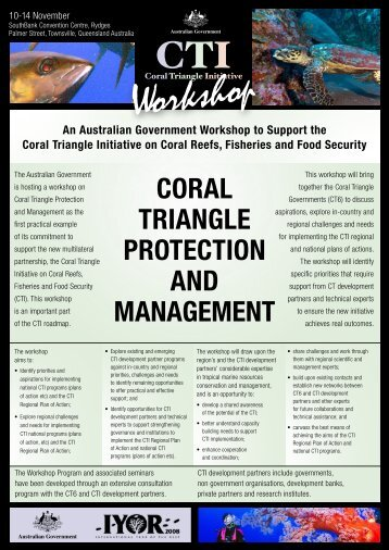 Townsville Workshop Program - ARC Centre of Excellence for Coral ...