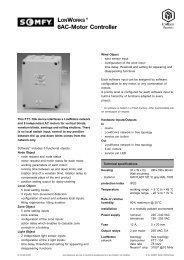 6AC-Motor Controller - Somfy