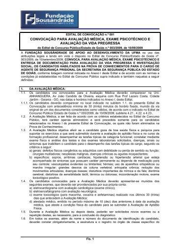 convocação para avaliação médica, exame psicotécnico e ...