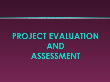 Project Evaluation and Assessment