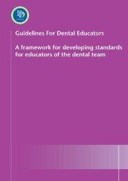 Guidelines For Dental Educators A framework for ... - COPDEND