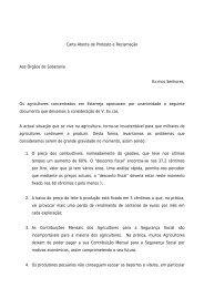 Carta Aberta de Protesto e Reclamação Aos Órgãos de ... - CNA