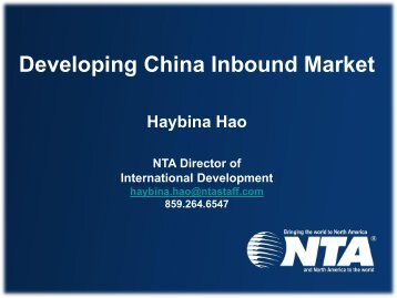 Overview of Chinese Leisure Market and the Tour Industry in China