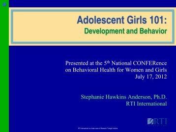 Adolescent Girls 101: Development and Behavior - Women ...