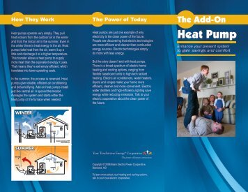 Add-on Heat Pump brochure - Basin Electric Power Cooperative