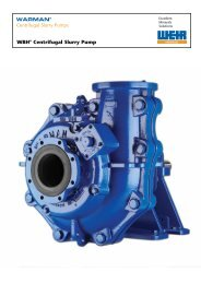 WARMAN® Centrifugal Slurry Pumps D,G,GH,SHG     - Boramtech